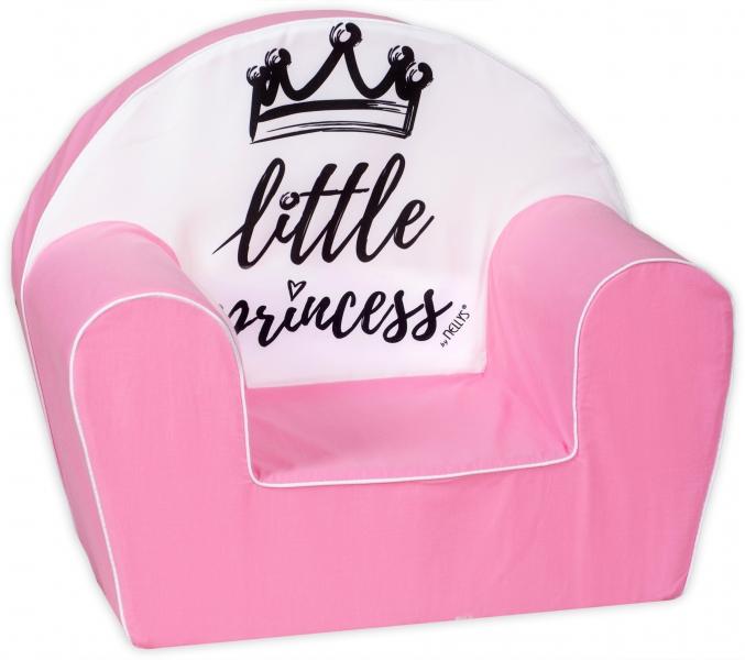Delsit Detské kresielko, pohovka LUX Little Princess, rúžové