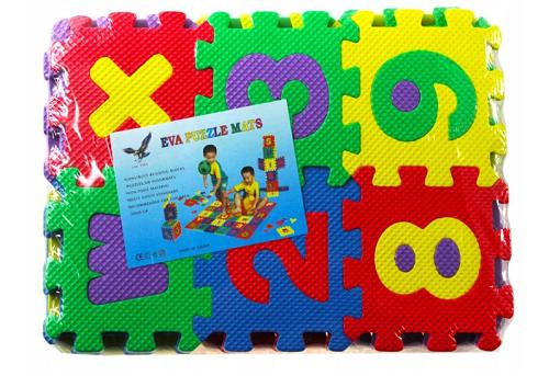 Penové puzzle číslice - 10 ks