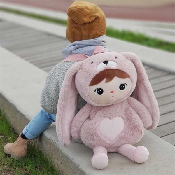 Detský batôžtek Metoo - Zajačik - ružový