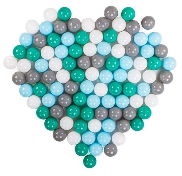 DRS Náhradné balóniky do bazéna - 100 ks, mix, šedá, zelená, modrá, bílá