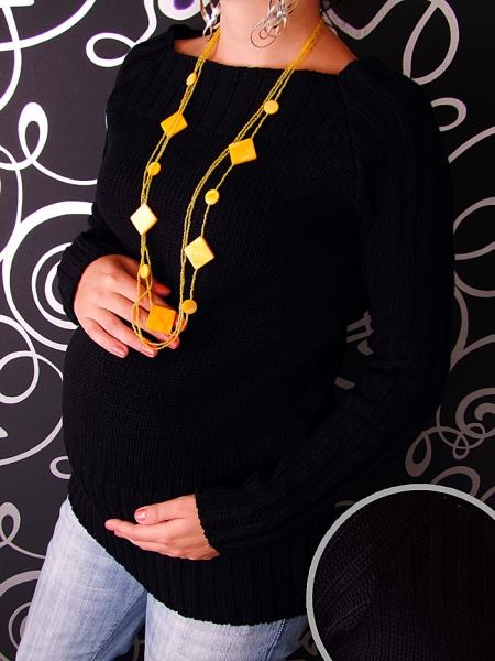 Tehotenský svetrík SELIN - čierna