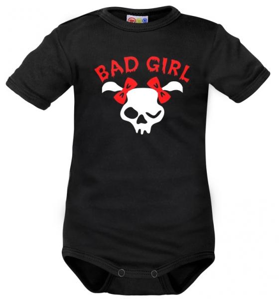Body krátký rukáv Dejna Bad Girl - čierne, veľ. 92-#Velikost koj. oblečení;92 (18-24m)