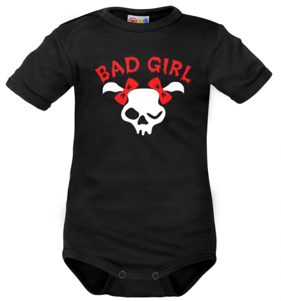 Body krátký rukáv Dejna Bad Girl - čierne, veľ. 92-92 (18-24m)