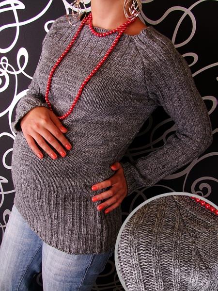 Tehotenský svetrík SELIN - šedá