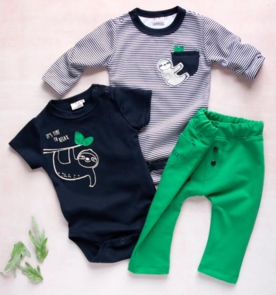 K-Baby 3 dielna sada - body kr. rukáv, body dl. rukáv, tepláčky - Relax Time For Boy-62 (2-3m)