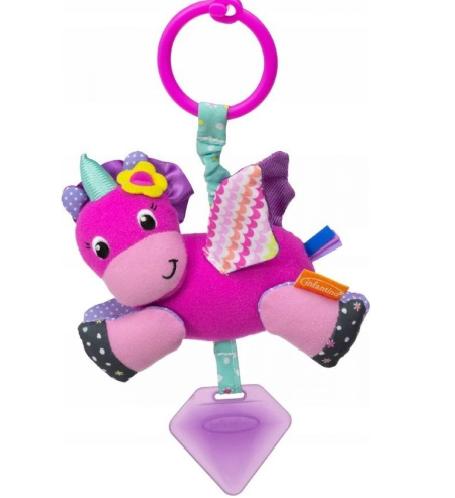 Infantino Závesná plyšová vibrujúca hračka - Jednorožec