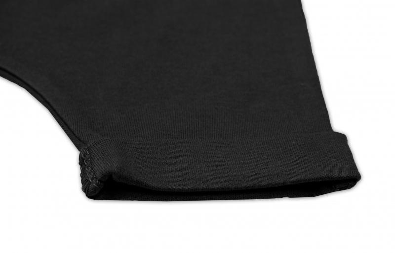 Bavlnené kraťasy Baggy s klokaním vreckom - čierne, veľ 68