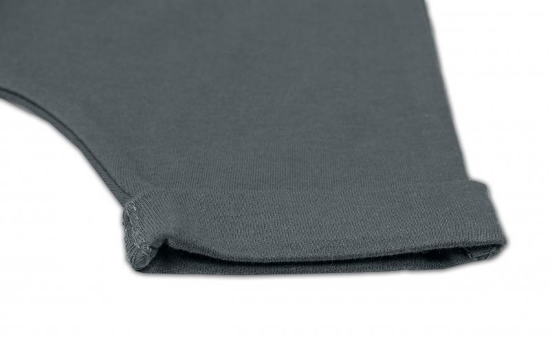 Bavlnené kraťasy Baggy s klokaním vreckom - šedé, veľ. 98