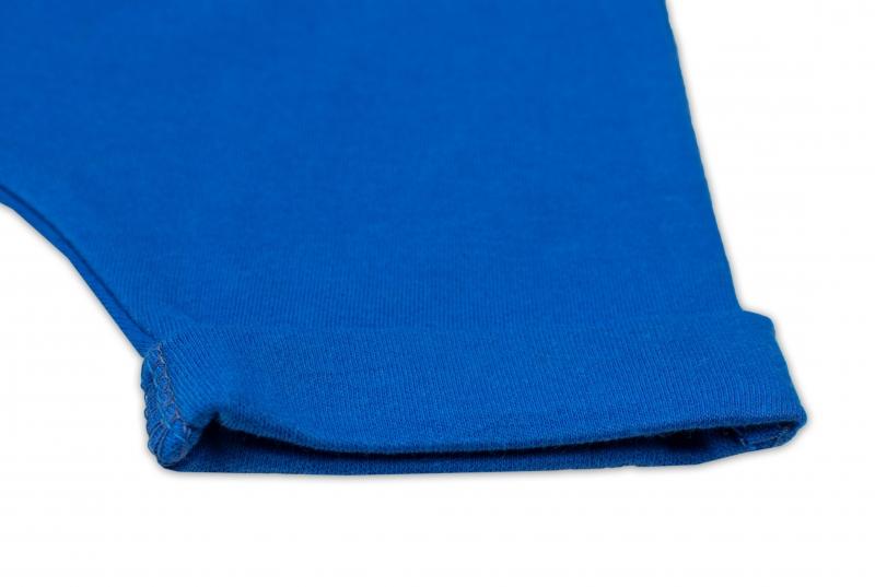 Bavlnené kraťasy Baggy s klokaním vreckom - modré, veľ. 98