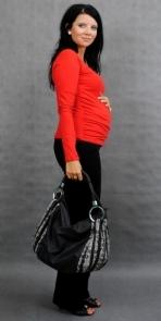 Tehotenské tričko ELLIS - červená