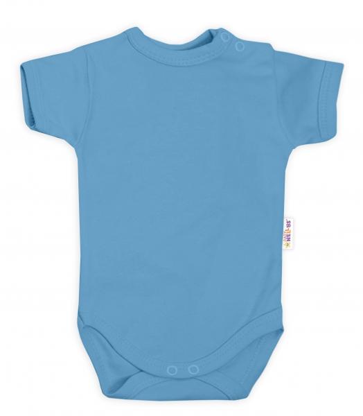 Baby Nellys Bavlnené body kr. rukáv - sv. modrá, veľ. 86