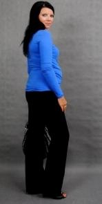 Tehotenské tričko ELLIS - modrá