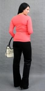Tehotenské tričko ELLIS - korálová, L/XL