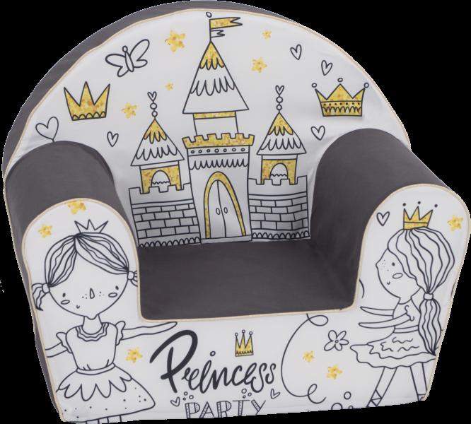 Delsit Detské kresielko, pohovka - Princess Party