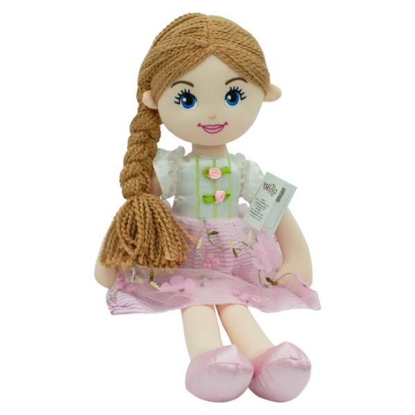 Handrová bábika Emilka, Tulilo, 52 cm - hnědé vlasy