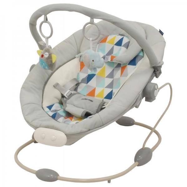 BABY MIX Lehátko pre dojčatá s vibrácií a hudbou - Sivý - mozaika