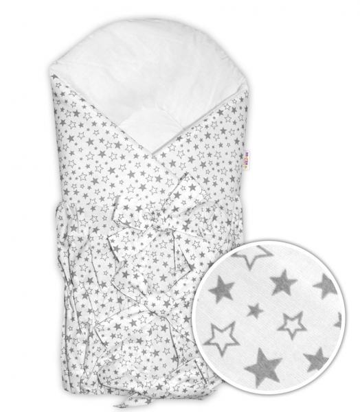 Baby Nellys Zavinovačka šnurovacia Galaxie hviezd - biela/ sivá