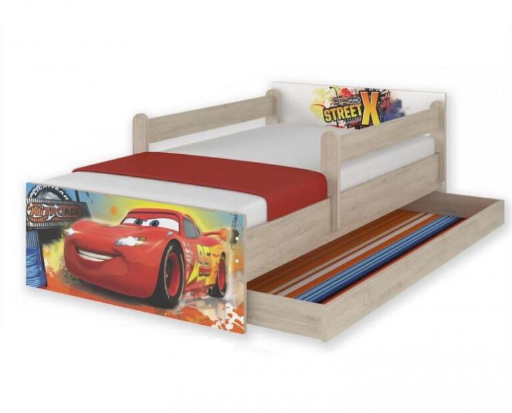 """Babyboo Detská junior posteľ Disney MAX XXL """"CARS"""", 200x90 cm"""