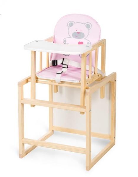 Klups Drevený jedálenský stolček Anežka C4 Borovica - Medvedík rúžový