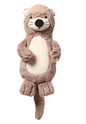 BabyOno Plyšová hračka s hrkálkou Otter Maggie Vydra, béžovo-hnedá
