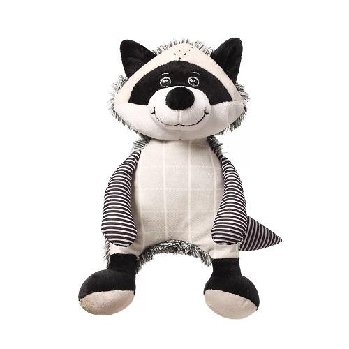 BabyOno Plyšová hračka s hrkálkou Racoon Rocky Mýval, černo-bílý