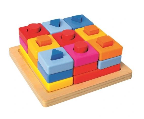 Bino Sorter Edukačná vkladačka s kockami, 29 ks