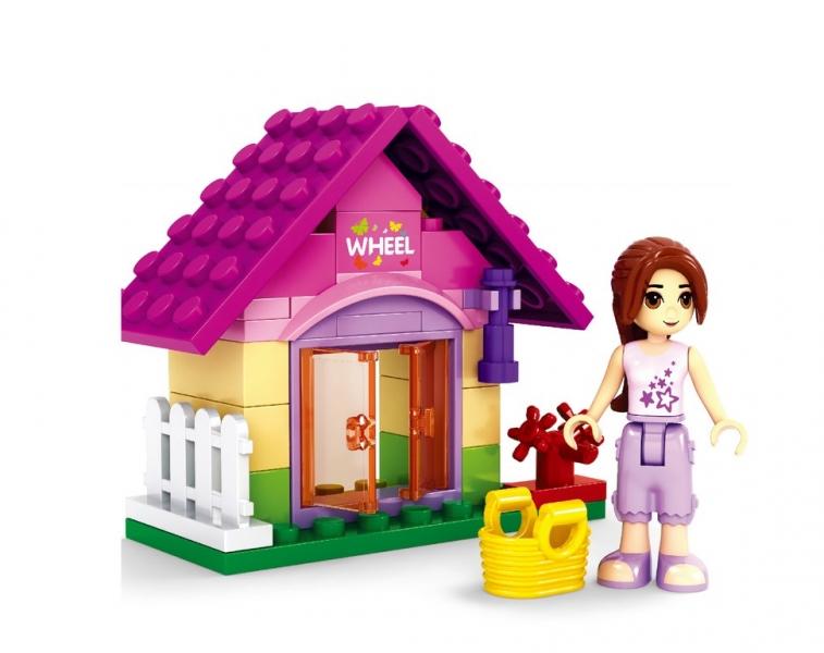 Stavebnice AUSINI dívčí svět v sáčku - zaHradní domek 44 dílů