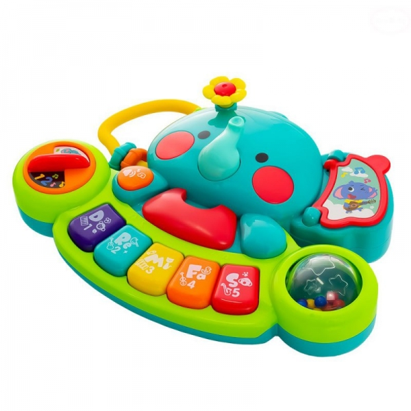 Euro Baby Interaktívna hračka s melódiou - Sloník, zelený