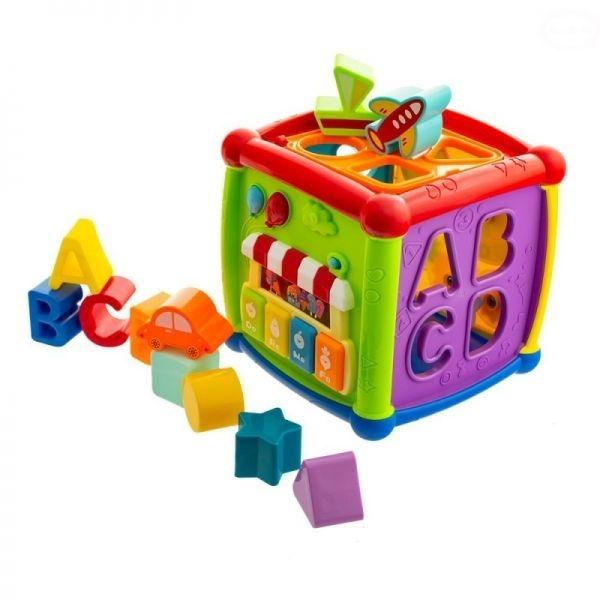 Euro Baby Interaktívna vkladacia kocka, 15.5 x 15.5 x 15.5 cm