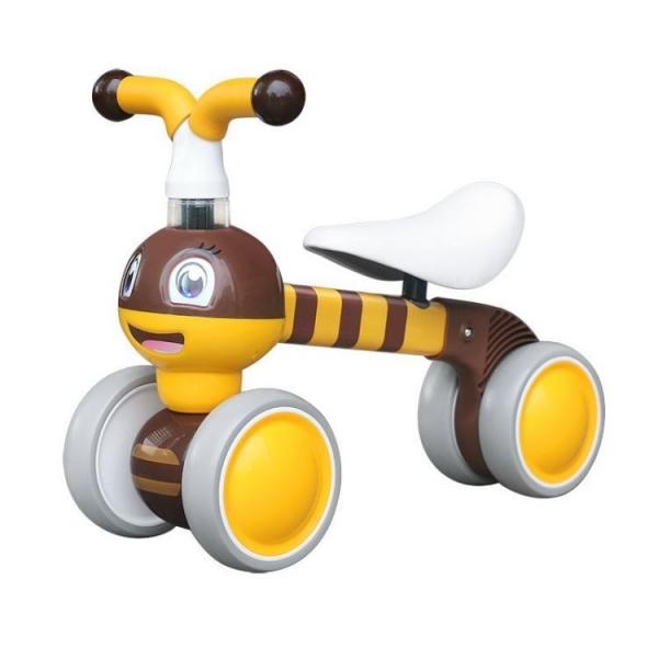 Odrážadlo / trojkolka Eco Toys, Včielka - žltá