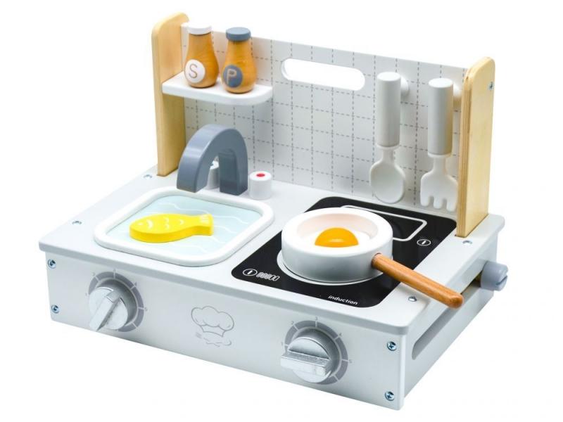 Drevená mini kuchynka ECO TOYS, 25x34x21cm