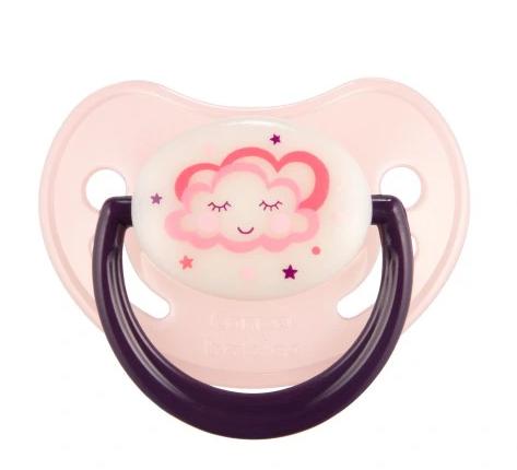 Canpol babies Cumlík symetrický, svítící 18 m+ C - růžový