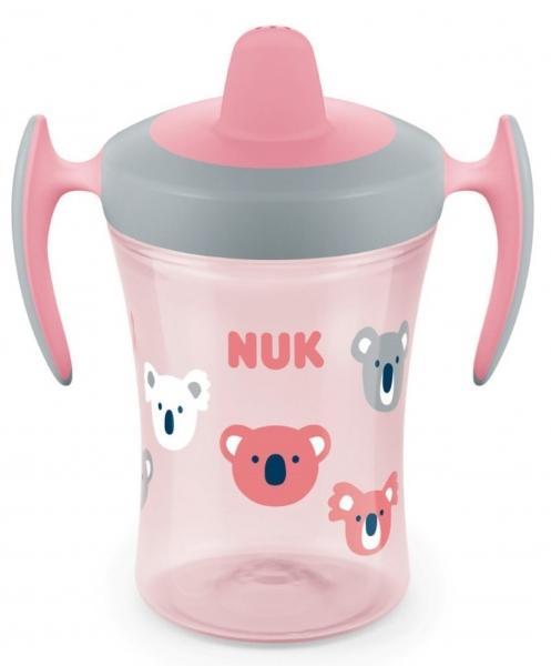 Nekvapkajúci hrnček NUK Trainer Cup Koala 230 ml - ružový