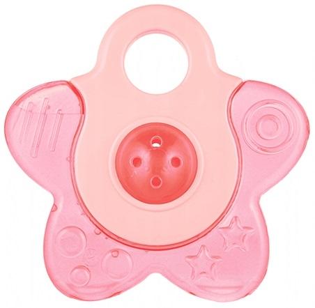 Canpol babies Hryzátko vodné s hrkálkou - Hvezdička - růžová