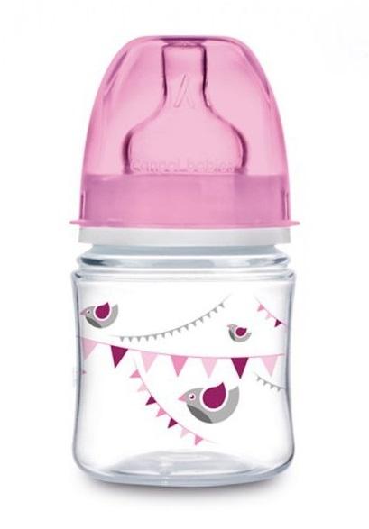 Canpol Babies Antikolik. fľaštička so širokým hrdlom, 120 ml - ružová
