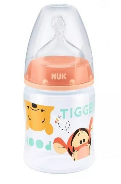 Fľaštička NUK Medvedík Pú - růžová - 150 ml