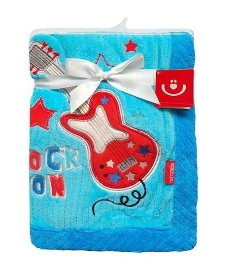 BOBO BABY Detská deka v darčekovej krabičke, 76x102 cm - Kytara, modrá