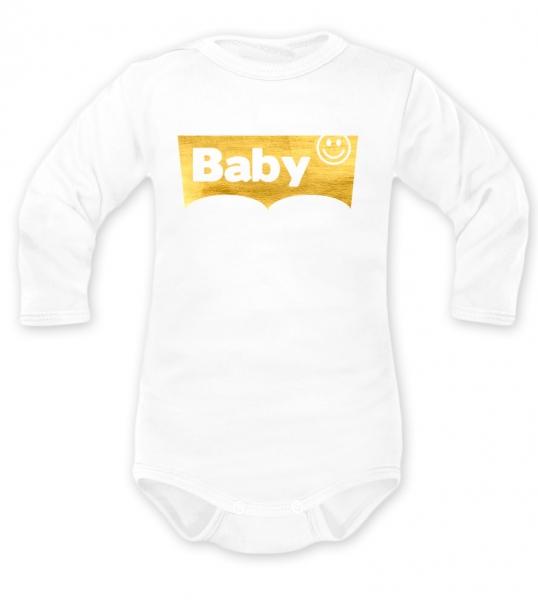 Body dlhý rukáv Baby, biele, vel. 68