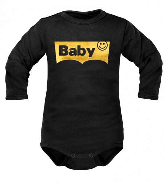 DEJNA Body dlhý rukáv Baby - čierne, vel. 74