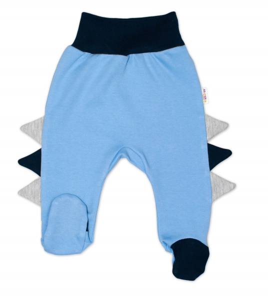 Baby Nellys Bavlnené dojčenské polodupačky, Crocodiles - modré