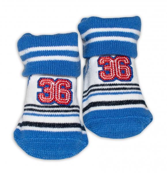 Dojčenské ponožky Bobo Baby - Number 36, modrá, veľ. 0-6 m