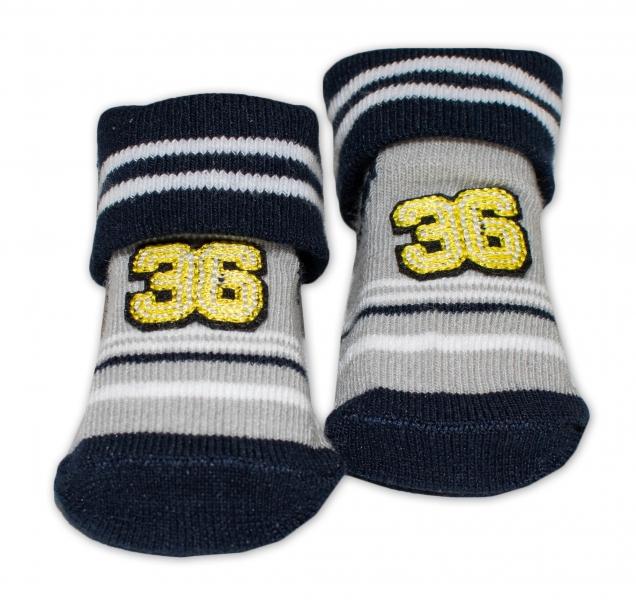 Dojčenské ponožky 0-6 m,Bobo Baby - Number 36, čierna