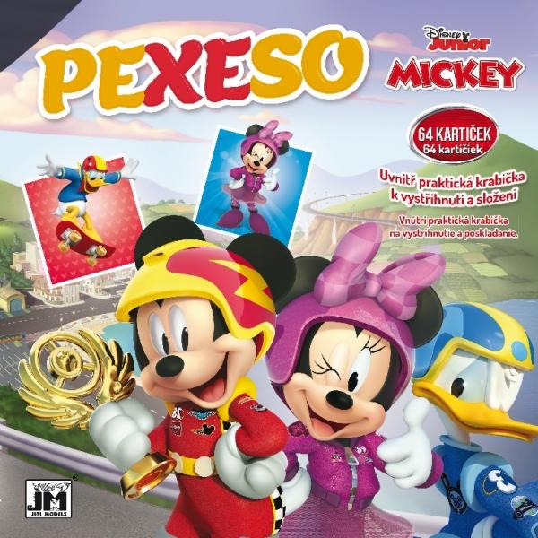 Pexeso v sešitu Mickey Mouse