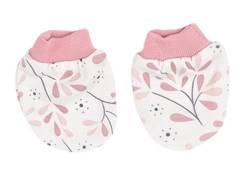 Mamatti Dojčenské rukavičky Tokio - růžová, biela