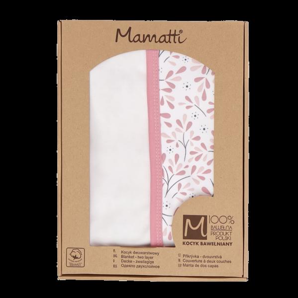 Mamatti Detská bavlněná deka, Tokio - 80 x 90 cm, v darčekovej krabičke, ružovo-biela