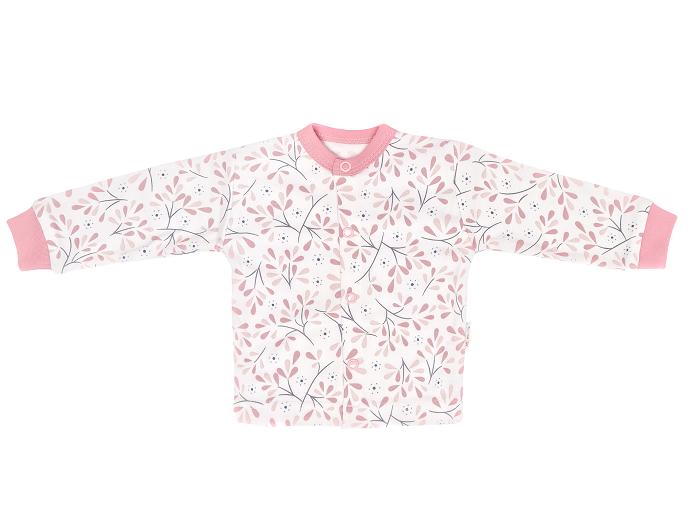 Kojenecká bavlnená košieľka Tokio - ružovo, biela, veľ 50