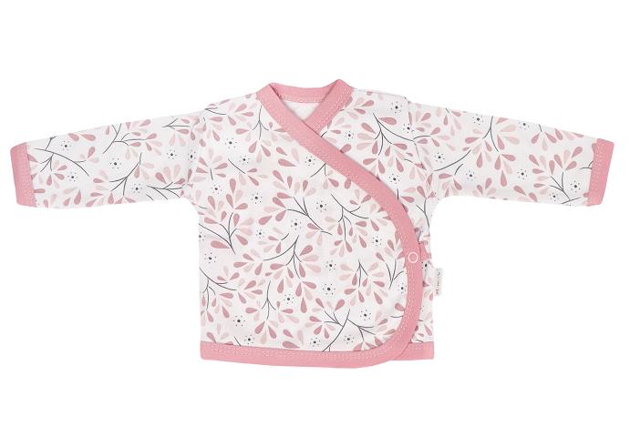 Mamatti Novozenecká bavlnená košieľka zapínanie bokom, Tokio - ružovo, biela, veľ. 56