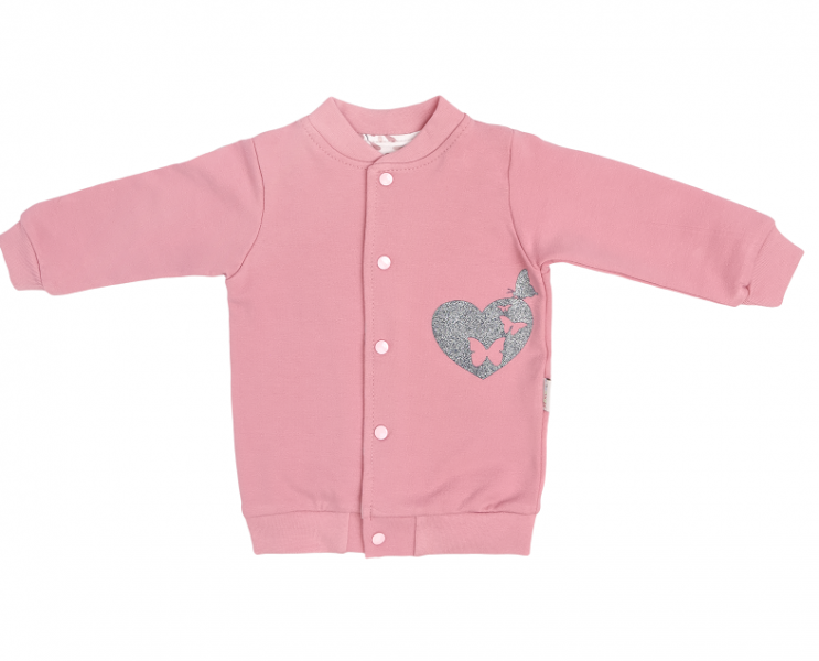 Bavlnená detská mikina Tokio - ružová, veľ. 92