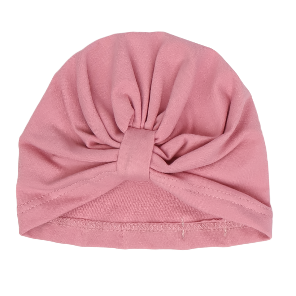 Mamatti Bavlnená detská čiapka - turban,Tokio - růžová, veľ. 2-3 roky
