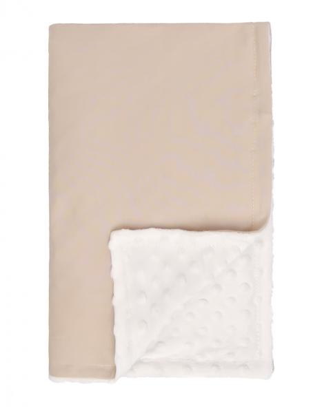 Mamatti Detská bavlněná deka s minky, Lion - 75 x 90 cm, béžovo-biela